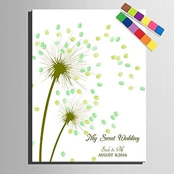Personalisierter Wedding Tree Pusteblume, Fingerabdruck