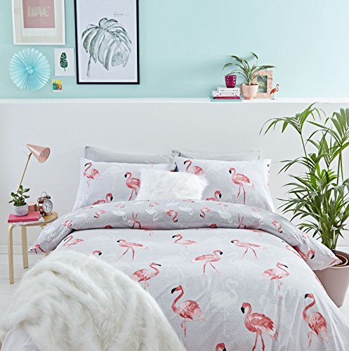 Catherine Lansfield Pink Flamingos Easy Care Duvet Set - All Sizes