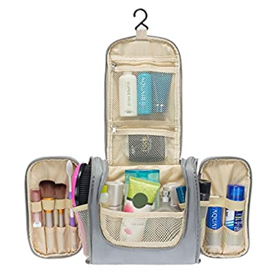 Colleer Multifunctional Travel Toiletry Bag Extra Large Makeup Organiser Waterproof Shower Wash Bag Cosmetic Case Household Grooming Kit Storage Travel Kit Pack with Hook - low-cost UK light store.