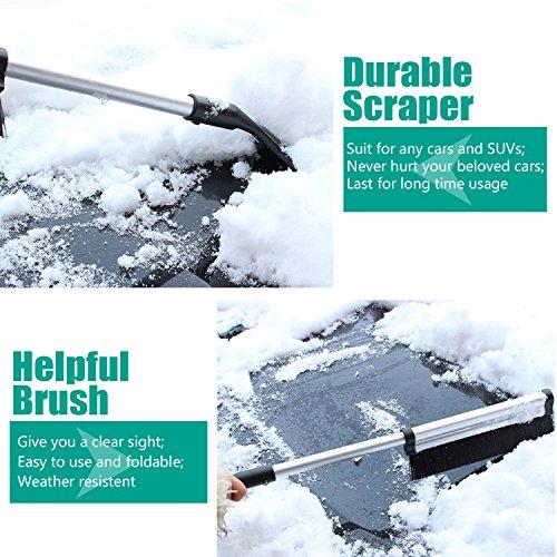 Pieghevole-neve-raschietto-con-la-spazzola-ODOLAND-durevole-Auto-Raschiaghiaccio-Slim-Line-neve-Scopa-per-tutte-le-vetture-camion-e-SUV-sci-e-snowboard-robusto-e-di-facile-impiego