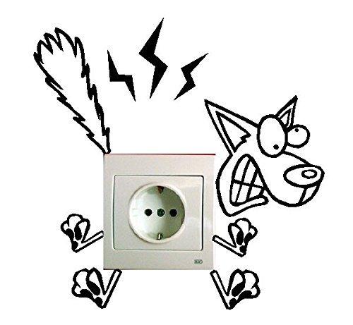 Hosaire 1x Lichtschalteraufkleber Leuchtsticker Wandtattoo DIY Wandsticker Aufkleber Wandaufkleber 11 * 8cm
