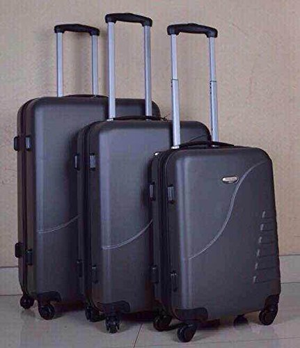 Travelhouse ABS Hard shell Travel Trolley Suitcase 4 wheel Luggage set Hand Luggage (3 PCS, Blue)