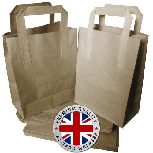 500Premium Qualität Medium SOS Kraft Craft braun Papier zum Mitnehmen Stabil Tragetaschen