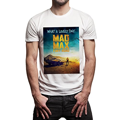 Mad Max Fury Road What A Lovely Day Cover Movie Background Herren T-Shirt Weiß