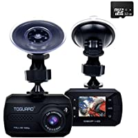 TOGUARD Mini Dash Cam(32GB Card Included) Full HD 1080P Car Blackbox Car Dash Cams DVR Dashboard Camera Built In G-Sensor Motion Detection Loop Recorder