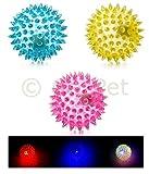 Hunde Spielzueg Ball mit Noppen TPR LED leuchtend schwimmend