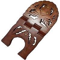 POGGIALIBRI in legno Sheesham intarsiato 27 x