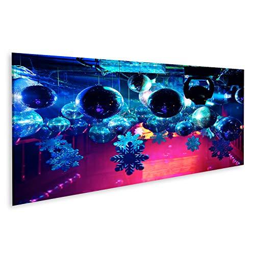 islandburner, Tableau Tableaux sur Toile Party Lights Disco Ball dans Une  boîte de Nuit  De Beaux Rayons de lumière Brillants Impression Image Motif