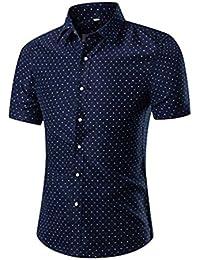 NiSeng Homme chemise à manches courtes casual shirt d'impression