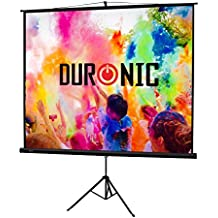 "Duronic (Certified Refurbished) TPS86/43 (Black) Projector Screen for | School | Theatre | Cinema | Home | Tripod Projector Screen - 86""- 4:3 Screen (Screen: 175cm(W) X 131cm(H)) Projection Screen"