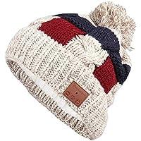 Ydq Unisex Gorro Bluetooth, Sombrero InaláMbrico Bluetooth Beanie Hat Cap con Auriculares/MicróFono Invierno Lavables Sombreros De Punto Hombres/Mujerese