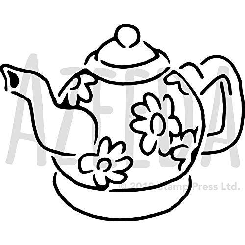 Azeeda A3 \'Blume Teekanne\' Wandschablone / Vorlage (WS00025886)