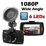 SYIN HD 1080p Auto Fahrschreiber Kameraschwurf mit Nachtsichtmodus, 2,7 'LCD Bildschirm mit 140 ° Weitwinkelobjektiv, G-Sensor, Bewegungserkennung, Loop Recording, SOS Lock, 5MP Digitalkamera Funktion (Full HD 1080p 140 °)