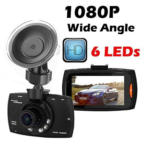 """HD 1080p Auto Fahrschreiber Kameraschwurf mit Nachtsichtmodus, 2,7 """"LCD Bildschirm mit 140 ° Weitwinkelobjektiv, G-Sensor, Bewegungserkennung, Loop Recording, SOS Lock, 5MP Digitalkamera Funktion (Full HD 1080p 140 °)"""