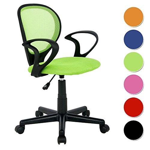 SixBros. Sedia ufficio sedia girevole verde - H-2408F/1408