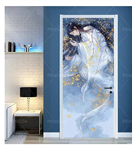 Reinigen Statische Kostüm - luanxiaodianshang Tür Aufkleber Auf Selbstklebende Alte Kostüm Junge Tapete Leinwanddruck Bild Wandkunst Wohnkultur Wand Renovierung Aufkleber 95x215 cm