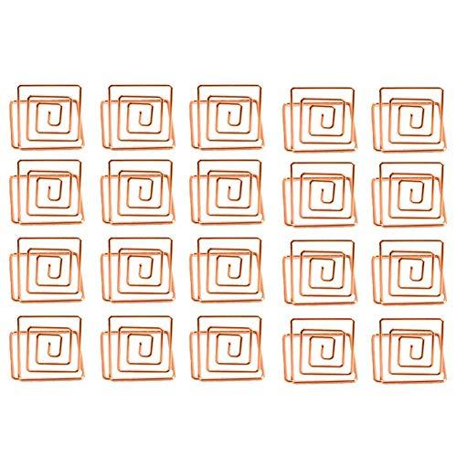 (Cikuso Draht Form Platz für Kartenhalter St?nder, Tabellennummer Halter, Papier Menü Bild Memo Hinweis Foto Clip Halter Lebensmittel Schilder für Hochzeiten (20er Pack) (Rose Gold))