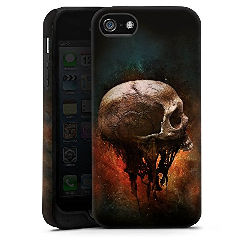 Apple iPhone X Silikon Hülle Case Schutzhülle Skull Halloween Scream Tough Case matt