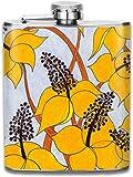 Boccette di presock per liquore, Spring Bloom 7 Oz Fiaschetta in acciaio inossidabile stampato per bere liquore Es. Whisky, Rum, Scotch, Vodka Rust Grea