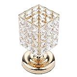 MagiDeal Kristall Teelichthalter Kerzenständer in Lampe-Design, Elegante Deko für Hochzeit Wohnzimmer Schlafzimmer - #4, M