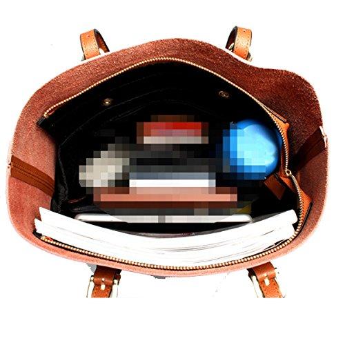 Sommer-Frauen Leder-Wannen-Beutel-Handtaschen-Geldbeutel-Schulter Tote Cross-Body-Tasche Black