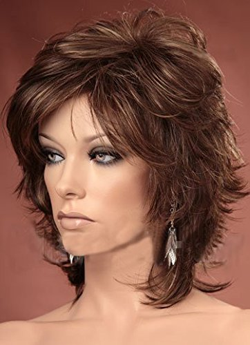 Forever Young Ladies Short Wig Light Brown Tousled Layers Fashion Wig by Forever Young