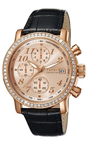 Esprit Damen-Armbanduhr Pontess Chrono Chronograph Quarz Leder EL190322007