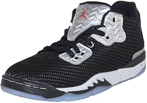 Nike Jungen Jordan Spike Forty Low Bp Basketballschuhe Black (Schwarz / Fire Red-Pure Platinum)