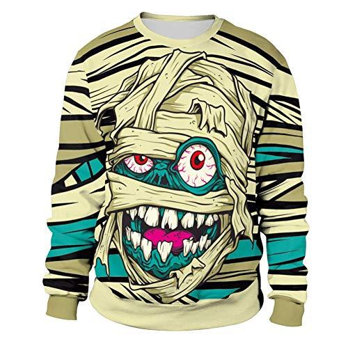 MIRRAY Damen Lustige Halloween Pullover Sweatshirt Party Langarm -