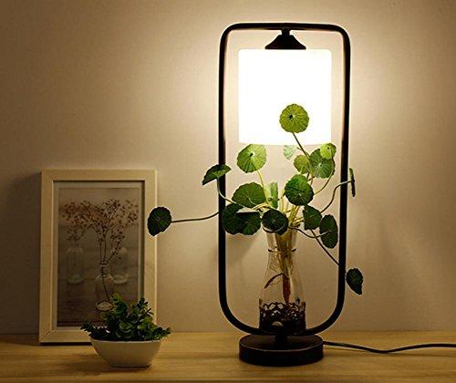 1-licht-acryl-diffusor (HHORD Retro Industrie Wind Kreative Persönlichkeit Pflanze Tischlampe Restaurant Bar Wohnzimmer Nachttisch Einfache Schreibtisch Licht , 1)