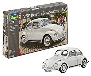 Revell Volkswagen Maqueta VW Beetle Limousine 1968, Kit Modelo, Escala 1:24 (07083), Multicolor