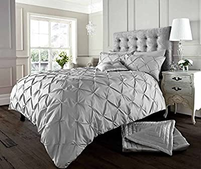 London.bedding @ Designer Alford White_black_cream_latte/ Mocha_grey/silver_pink_ Luxury Duvet Quilt Cover Set With Pillow Cases produced by Textile - quick delivery from UK.