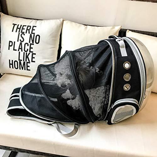 Zaino per animali da compagnia Zaino per gatti espandibile, Bubble Space Capsule Trasportino per animali domestici trasparente per cani di piccola taglia, Zaino da viaggio per escursionismo-nero