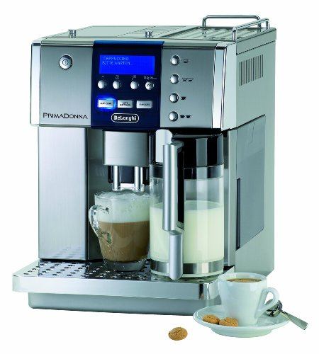 De'Longhi PrimaDonna ESAM 6600 Kaffeevollautomat (Digitaldisplay, integriertes Milchsystem,...