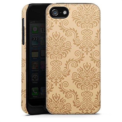 Apple iPhone X Silikon Hülle Case Schutzhülle Ornamente Flower Retro Tough Case matt