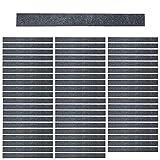 Mehrondo 60 Stück Dunkelgraue Filzstreifen Rohlinge FS203DG, 300x30x3 mm vorgeschnitten — ideal zum kreieren von Schlüsselanhänger und Schlüsselband