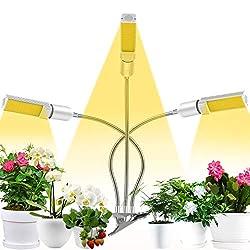 Coulax Pflanzenlampe Pflanzenlicht Vollspektrum 60W 132 LEDs Grow Lampe 3 Arten Lichtmodus 5 Stufen Helligkeit Pflanzenleuchte 3H/6H/12H Timing-Funktion Grow Light für Garten Zimmerpflanzen