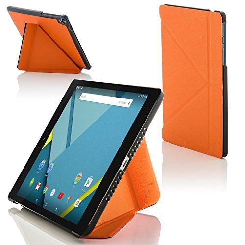 Forefront Cases® Google Nexus 9 8.9 Zoll Origami Hülle Schutzhülle Tasche Bumper Folio Smart Case Cover Stand - Rundum-Geräteschutz und intelligente Auto Schlaf / Wach Funktion (ORANGE)