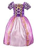 FStory&Winyee Mädchen Prinzessin Kleider Aurora Kleid Pink Dornröschen Kinder Cosplay Märchen Kostüm Karneval Party Verkleidung Halloween Fest