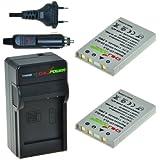 ChiliPower EN-EL5 Kit; 2x Batterie (1150mAh) + Chargeur pour Nikon Coolpix P3, P4, P80, P90, P100, P500, P510, P520, P5000, P5100, P6000, S10, 3700, 4200, 5200, 5900, 7900