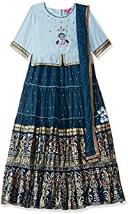 BIBA Girls Girls' Regular Fit Salwar Suit