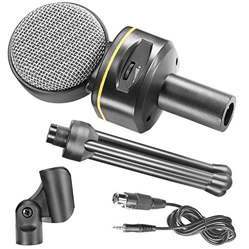 Neewer-Micrfono-de-condensador-con-control-de-volumen-y-42-pulgadas-107-cm-Mini-soporte-del-trpode-conector-de-35-mm-de-Difusin-de-grabacin-Podcasting-Estudio-Mic-para-los-ordenadores-porttiles-ordena