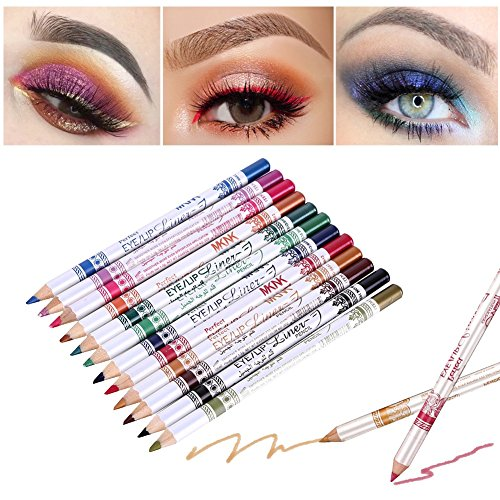 12 couleurs Eyeliner Pen Eye/Lip Liner Crayon Set Eye Shadow Pen maquillage Kit cosmétique