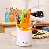 KR Store Kitchen Drainer Strainer Organizer Storage Sink Spork Spoon Cutlery Holder
