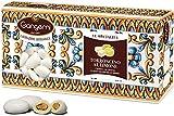 Gangemi Confetti - 1kg Doux Mariage Dragée amande - Saveur de citron Nougat - Classique cadeau de mariage italien - Amande de Sicile - Blanc (approx. 180)