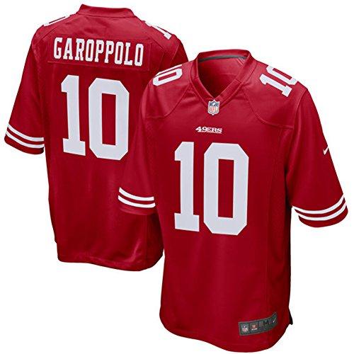 Francisco San 49ers (10 Jimmy Garoppolo Trikot San Francisco 49ers Jersey American Football Trikot Mens Red Size M(40))
