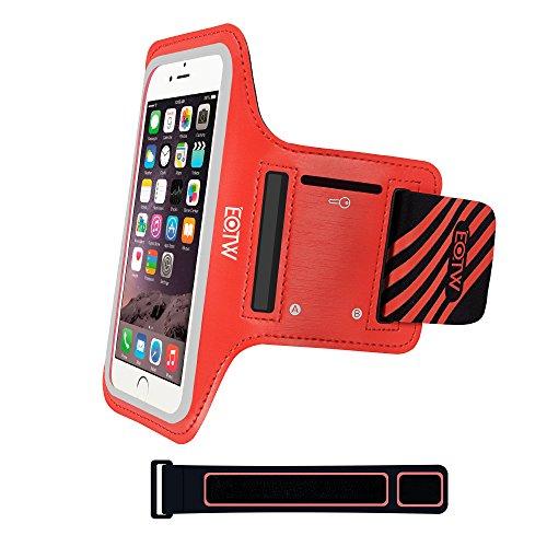 EOTW Sportarmband Handyhülle universell passend für iPhone 5/5s/SE, Ideal für Sport, Freizeit aber auch in der Arbeit praktisch zu verwenden (4,0 Zoll, Rot)