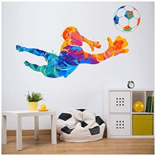 azutura Football Goalkeeper Colourful Wall Sticker available in 8 Sizes Small Digital