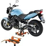 Hi-Q Tools Motorrad Montageständer Rangierhilfe bis 250kg für Hauptständer, Unisex, Multipurpose, Ganzjährig, Stahl, orange