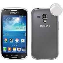 TBOC Funda de Gel TPU Transparente para Samsung Galaxy Trend Plus S7580 de Silicona Ultrafina y Flexible